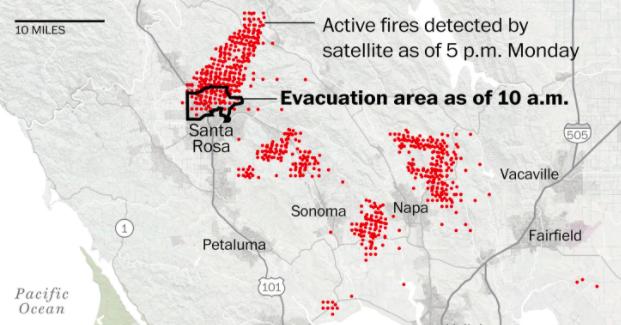 Napa Fire Map