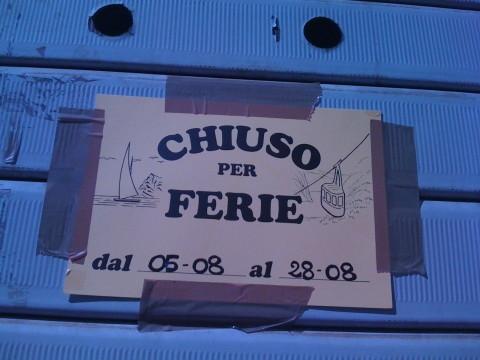 ristoranti chiusi - chiuso per ferie Roma