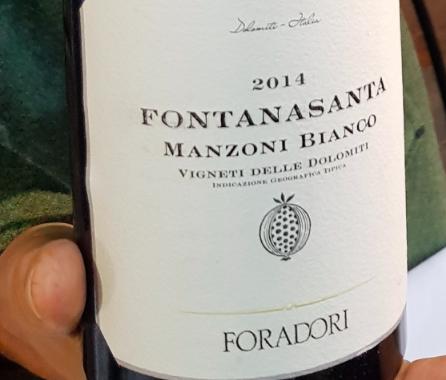 Foradori - Manzoni Bianco 2014