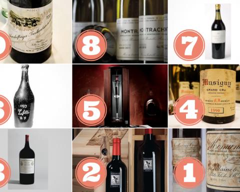 vini più costosi al mondo dicembre 2019
